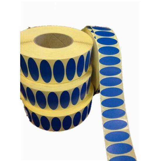 kék ovál papír