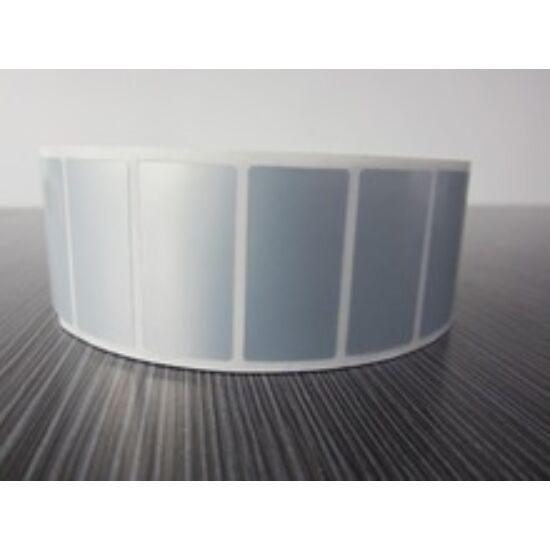 40x70mm PET chrome matt címke - 3543 db / tekercs