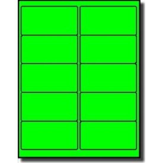 40x70mm fluo zöld vellum címke