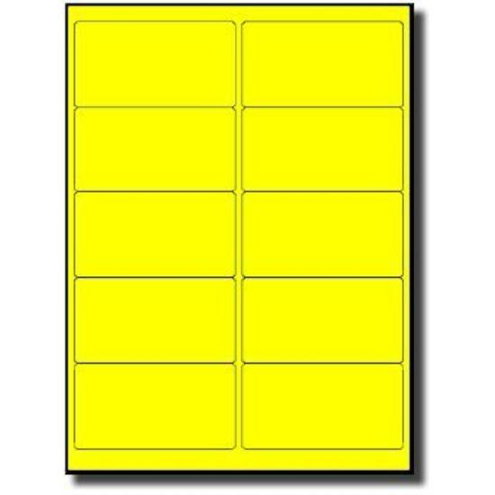 40x70mm fluo sárga vellum címke