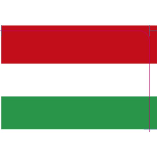 Magyar zászló 69,4 x 100 címke