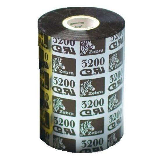Zebra 3200 Premium Wax/Resin festékszalag 131mm x 450m - közepes és ipari címkenyomtatókhoz