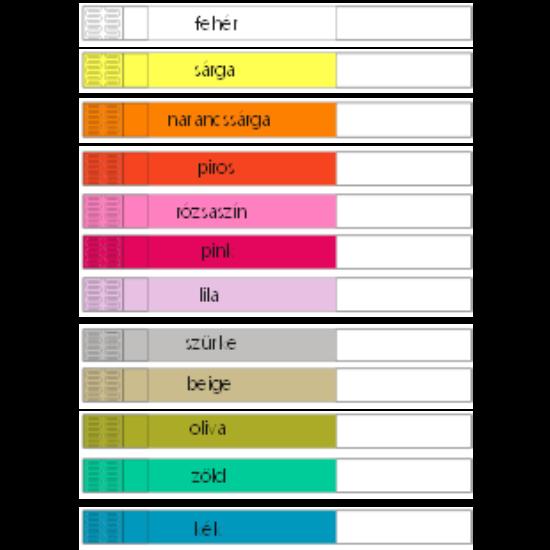 Mag ICS szintetikus papír karszalag EGYEDI NYOMATTAL - 12 FÉLE SZÍNBEN