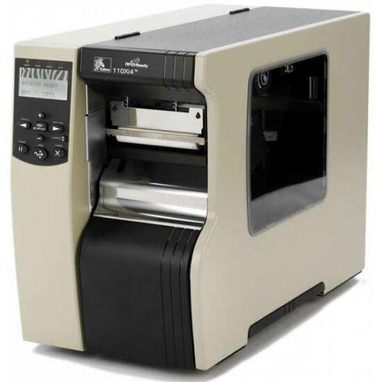 Zebra 110Xi4 ipari  vonalkód nyomtató TT REWIND & USB REW.W. PEEL IN - 203 dpi